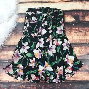 Pants - << Floral Tropical Ruffle Romper with Bow >>